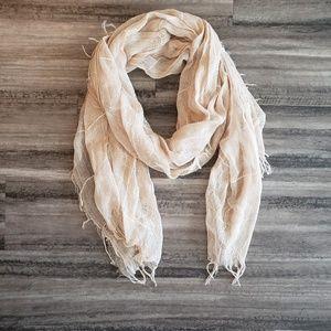 Lightweight beige scarf